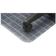 "Checkered Mat, Rectangular, 46"" x 60"", Clear"