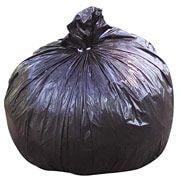 "National Industries Trash Bag, 60 Gallon, 1.5 mil, Black, 38"" x 60"",100/Ct"
