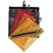 Mesh Storage Bags, w/ Zipper and Clip, 4/PK, Assorted