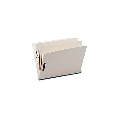 S & J Paper End Tab Classification Folders, 6 Parts/2 Partitions, Red, Letter, Holds 8 1/2