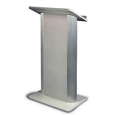 Amplivox Lectern, Flat C-Panel, Grey Granite-Satin Anodized Aluminum