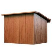 Amplivox Lectern, Non-Sound, Folding, Oak