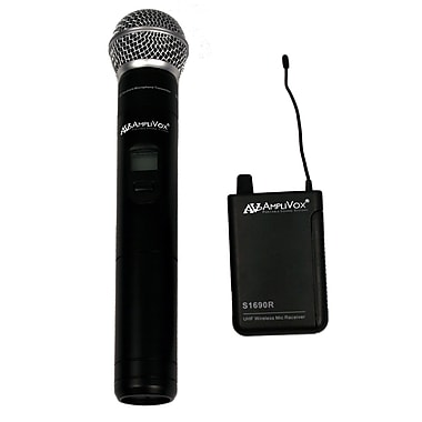 Amplivox Wireless 16 Channel UHF Handheld Mic Kit