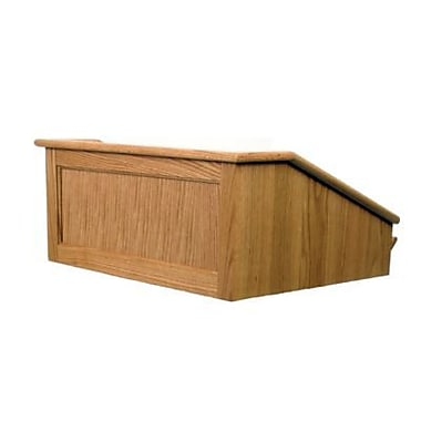 Amplivox Lectern, Non-Sound, Hardwood, Victoria, Table Top, Natural Oak