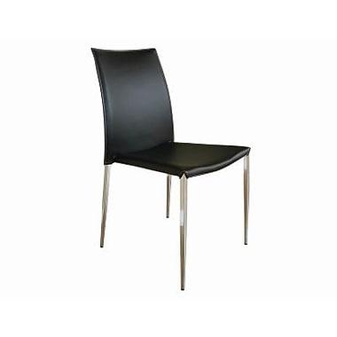 Baxton Studio New York Leather Dining Chair, Benton Black