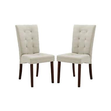 Baxton Studio Anne Fabric Modern Dining Chair, Beige