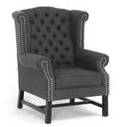 Baxton Studio Sussex Linen Club Chair, Gray