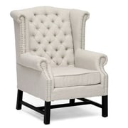 Baxton Studio Sussex Linen Club Chair, Beige