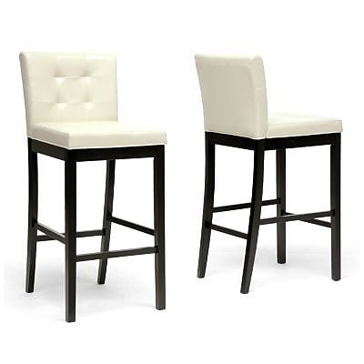 Baxton Studio Prospect Faux Leather Bar Stool, Cream 70111