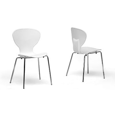 Baxton Studio Boujan Plastic Modern Dining Chair, White