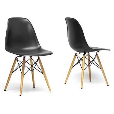 Baxton Studio Azzo Accent Chair, Black, 2/Set (DC-231A-Black)