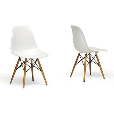 Baxton Studio Azzo Accent Chair, White, 2/Set (DC-231A-white)