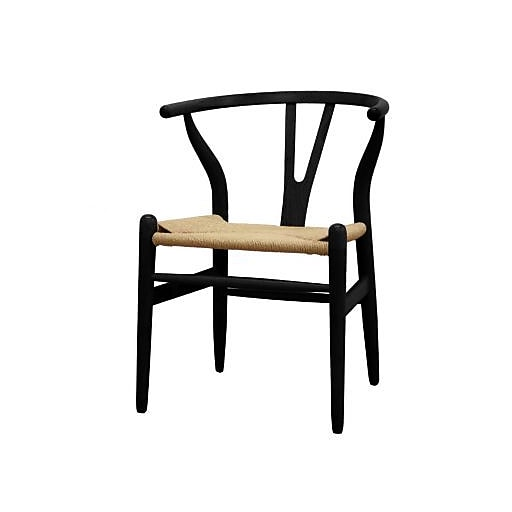 baxton studio wishbone chair black dc 541 black staples