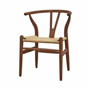 Baxton Studio Wishbone Solid Wood Dining Chair, Dark Brown
