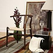 Baxton Studio Wishbone Solid Wood Dining Chair, Dark Brown