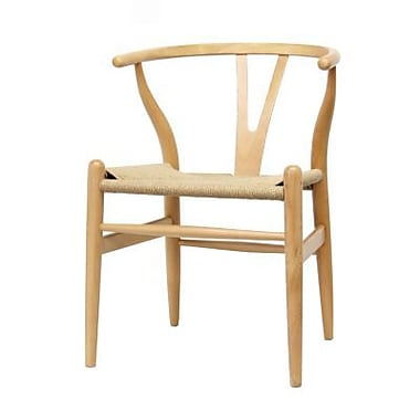 Baxton Studio Wishbone Natural Wood Dining Chair, Brown