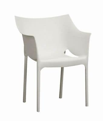 Baxton Studio Marvin Plastic Stackable Side Chair, White, 2/Set (DC-58-white)