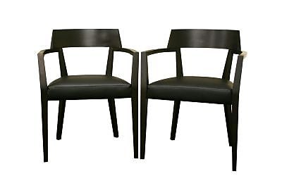 Baxton Studio Laine Faux Leather Modern Dining Chair, Wenge