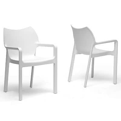Baxton Studio Limerick Plastic Stackable Modern Dining Chair, White
