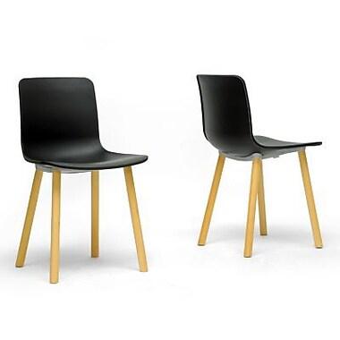 Baxton Studio Plastic Dining Chair, Black