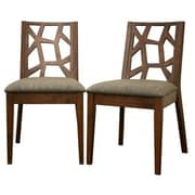 Baxton Studio Jenifer Fabric Modern Dining Chair, Medium Brown