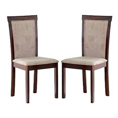 Baxton Studio Judy Micro Fiber Modern Dining Chair, Dark Brown