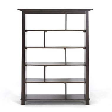 Baxton Studio Havana Tall Modern Bookcase, Dark Brown