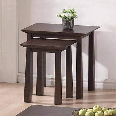 Baxton Studio Havana Modern Nesting Table Set, Brown