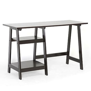 Baxton Studio Mott Wood Small Modern Desk, Dark Brown
