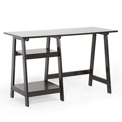Baxton Studio Mott Wood Small Modern Desk, Dark Brown