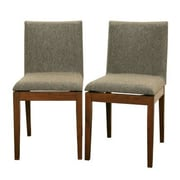 Baxton Studio Mier Wood Modern Dining Set, Brown, 2/Set