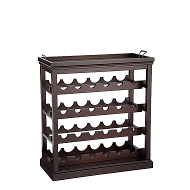 Powell® Bombay Davenport Solid Wood Open Wine Cabinet, Cognac