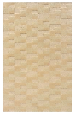 Powell® Bombay Zuma 5' x 8' Geometric Block Hand Tufted Rug, Brown