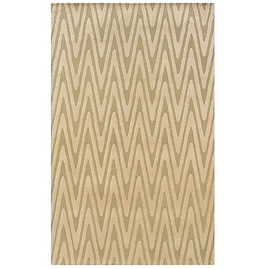 Powell® Bombay 2' x 3' Chevron Eyecatching Hand Tufted Rug, Green