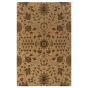 Powell® Bombay Bali 5' x 8' Traditional Hand Tufted Rug, Sand/Rust
