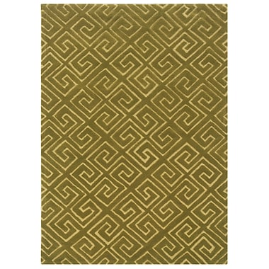 Powell® Bombay Fret 8' x 11' Greek Key Hand Tufted Rug, Green