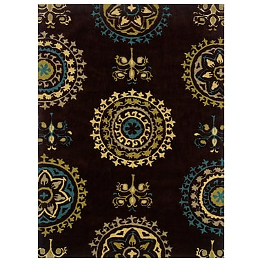 Powell® Bombay Suzani 5' x 8' Hand Tufted Rug, Brown