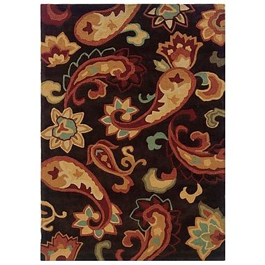 Powell® Bombay Palme 5' x 8' Boho Chic Hand Tufted Rug, Brown