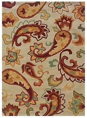 Powell® Bombay Palme 5' x 8' Boho Chic Hand Tufted Rug, Ivory