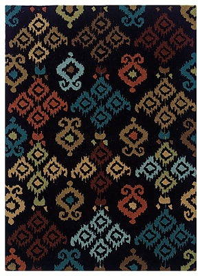 Powell® Bombay Ecote 2' x 3' Native Hand Tufted Rug, Black