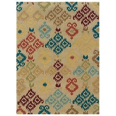 Powell® Bombay Ecote 8' x 11' Native Hand Tufted Rug, Ivory