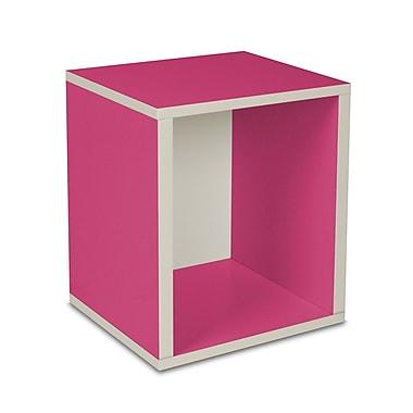 Way Basics Eco-Friendly Stackable Storage Cube Plus Organizer, Pink - Lifetime Warranty