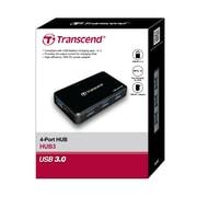 Transcend® HUB3 AC powered USB Hub, 4 ports with fast charging port for iPhone, iPad, iPod