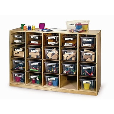 Whitney Brothers Cubby Storage Cabinet With 20 Trays, 31