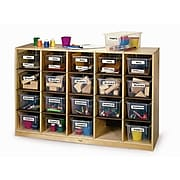"""Whitney Brothers Cubby Storage Cabinet With 20 Trays, 31""""(H)"""
