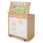 Whitney Brothers Big Book Display With Write and Wipe Back, Natural