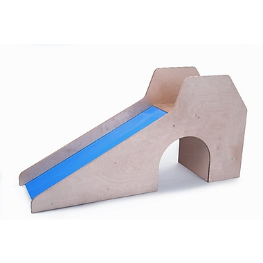 Whitney Brothers Slide With Stairs and Tunnel, Natural/Blue