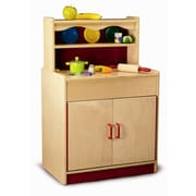 Whitney Brothers Preschool Hutch Cabinet, Natural
