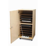 Whitney Brothers Single Laptop Security Cabinet, Natural