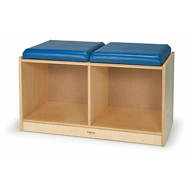 Whitney Brothers Bench Locker For Two, Blue Vinyl